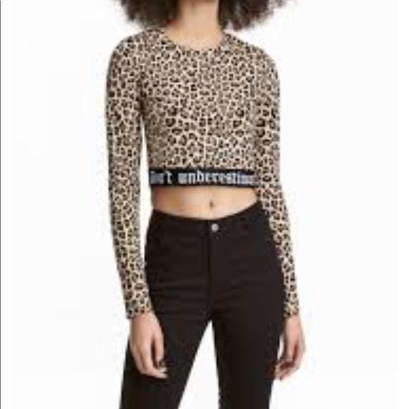c1e70f33cd7 H M leopard shirt says don t underestimate me